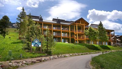 Photo for Lovely 3 BR Ski-in Out Condo -Right Next to Slopes-Hot Tub in Winter!
