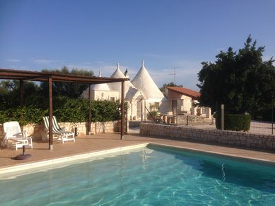 Photo for Traditional trullo, Rural Location, Enclosed Private Pool, Sole Use Only