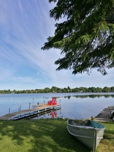 Photo for Fabulous waterfront 5 BedRm Cottage in Kawartha Lakes(430' deep large site, AC)