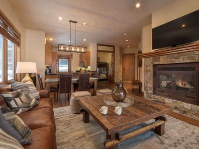 Photo for Enjoy amazing views of the ski runs from this 2 bedroom, 2 bath true ski in / ski out townhouse.