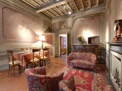 Photo for Angeli Caldaie apartment in Oltrarno with WiFi, air conditioning & private terrace.