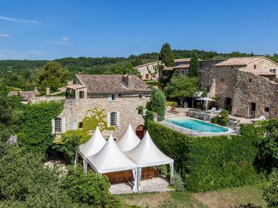 Photo for Domaine du Clos d'Hullias: accommodation 30 pers / 2 swimming pools / Wedding package