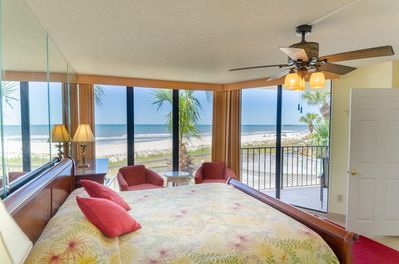 Sandcastle Dreams, Edgewater 104T2 has a large master suite with an incredible view of the Gulf of Mexico!  Sliding door opens directly onto your private balcony!