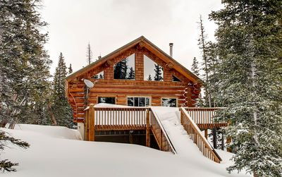 Photo for Pet Friendly a true LOG cabin that is cozy and has amazing views - A True Mountain Experience!