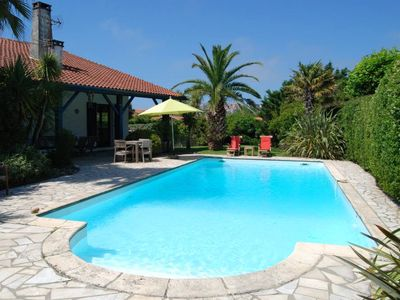 Photo for Charming traditional Basque house with private garden and swiming pool.