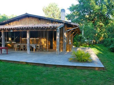 Photo for CAP FERRET WOODEN VILLA IN A MAGNIFICENT GARDEN