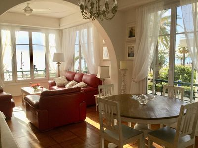 Photo for STUNNING BEACHFRONT APARTMENT WITH ENDLESS SEAVIEWS IN THE BEST LOCATION IN NICE