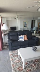 Living  area with reclining sofa