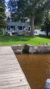 A short, easy walk to the lake and dock!