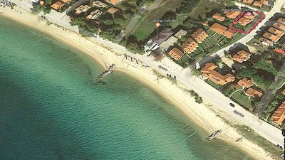 Photo for Brand new family house 40m from the sandy beach of Nikiti