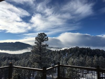 Unbelievable views and weather formations from Quartz Mountain Ranch & Lodge