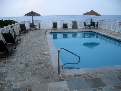 Oceanside Pool with new Surround adds to your Enjoyment at Kona Shores