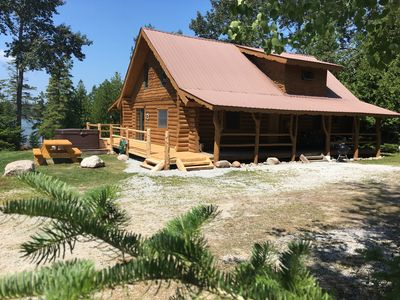 Photo for Drummond Island Vacations Homes - Fairview Cove Log Home