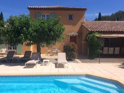 Photo for Cotignac - Wonderful Provencal Villa with pool and mature gardens, Sleeps 6