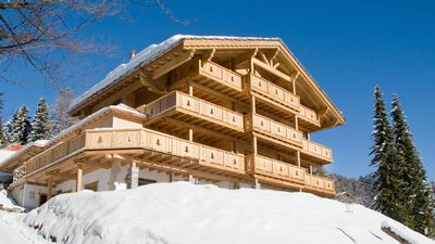 Photo for Luxury modern ski apartment in Villars with spectacular views