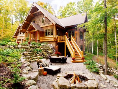 Photo for LUXURIOUS HARBOR SPRINGS LOG HOME-1 mile to Boyne Golf/Ski-4 miles to BEACH