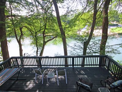 Photo for Riverside Roost- Guadalupe Riverfront Home, Sleeps 6!