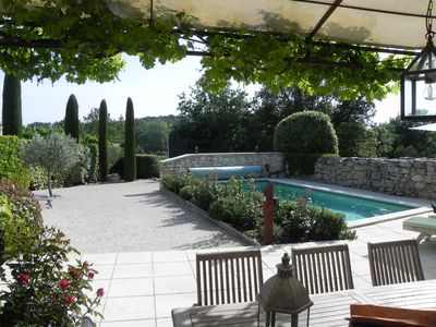 Photo for CHARMING VILLA IN QUIET, HEATED SWIMMING POOL, LAND CLOSURE