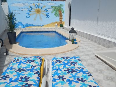 Photo for Luxury Family Holiday Villa, Private Heated Pool, in the heart of Los Alcazares