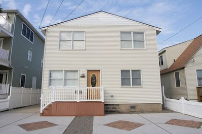 This is a Beach Block, Second Floor Condo that includes two off street parking spaces, six Beach Tags and is steps to the Guarded Pristine Brigantine Island Beach.