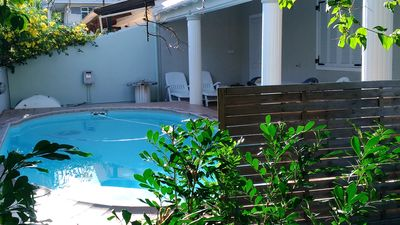 Photo for Beach side 1 minute from the sea with tropical garden and private swimming pool