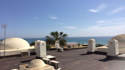 Photo for Studio apartment with stunning sea views (sleeps 4), close to the beach.