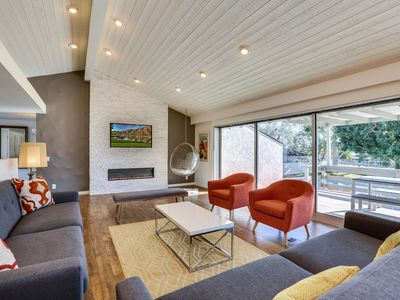 Photo for Mid-Century Modern Design. 8 Bedrooms. Stunning Golf-Course Front Vacation Home!