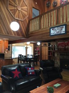 Photo for Newly renovated Spacious Wooden Cabin, Next To Golf Course, River, Trails