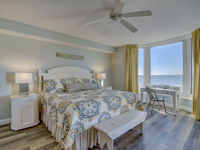 Photo for Captivating beach views from the 4th floor balcony of this newly upgraded unit.