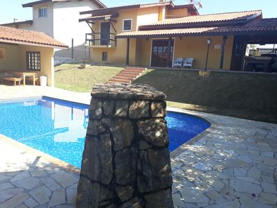 Photo for farm with pool, barbecue, games table and security in a closed condominium