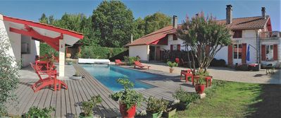 """Photo for Bassin d'Arcachon, Cap Ferret, ARES, 9 rooms, villa """"A red butterfly"""""""