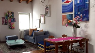 Photo for House Bergamo-center, penthouse for 4 people with 2 bedrooms and 2 bathrooms