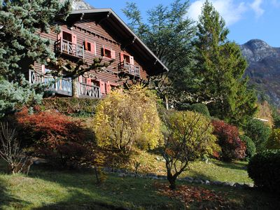 Photo for Chalet 200m, garden 2600m, Annecy 5 km away, 10 persons, lake-mountain views