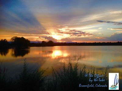 Spectacular sunset over McKay Lake, just a short walk from the house