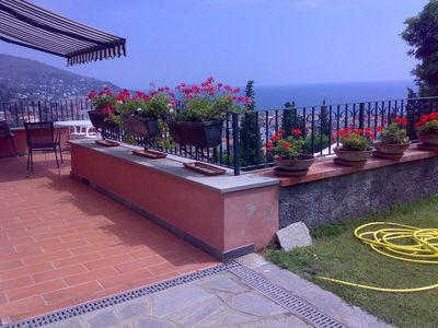 Photo for Alassio- Liguria - Apartment In Villa Nella Prima Collina In A Great Park
