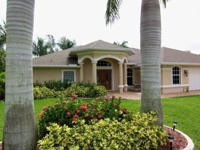 Photo for Lucky Pelican - SW Cape Coral 3b/2.5ba Electric Heated Pool & Spa, Gulf Access Canal,  Boat Dock, HS
