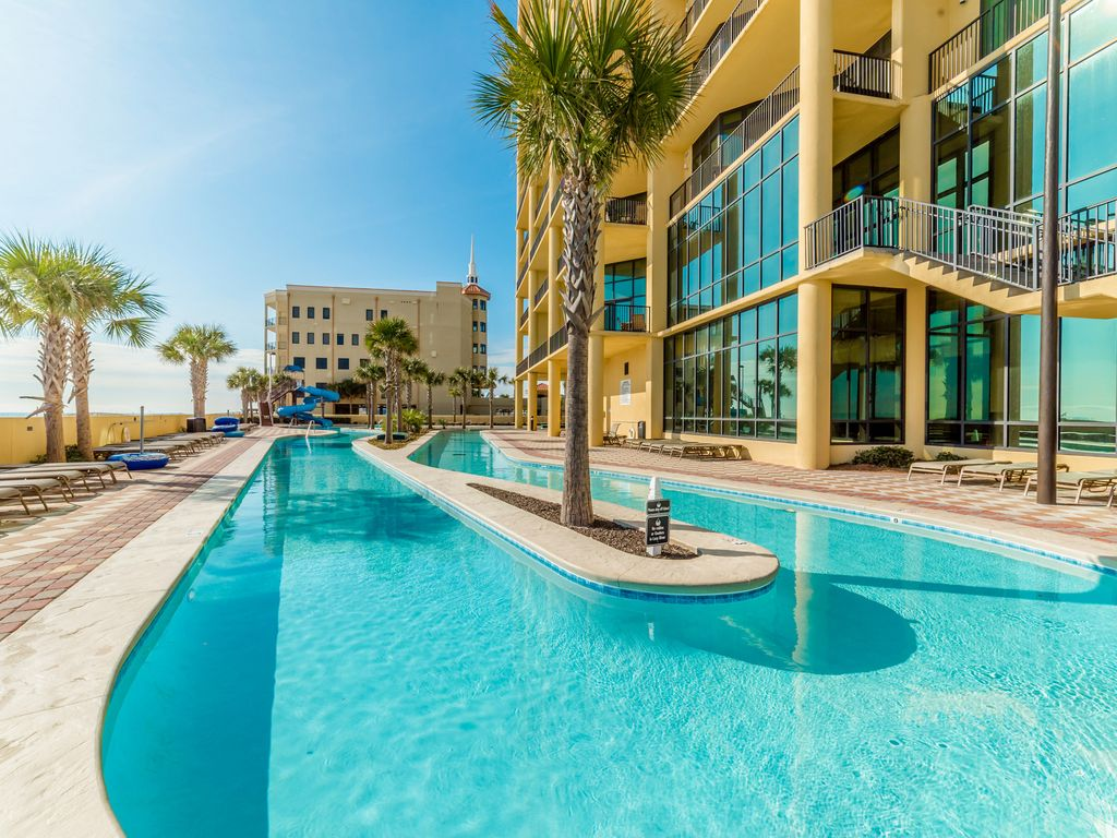 Stunning gulf front luxury condo updated custom features lazy river slides orange beach 4 bedroom condos in orange beach al