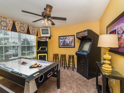 Photo for Discounted Rates, Minutes To Disney, Theater Room, Private Pool/Spa, Game Room!