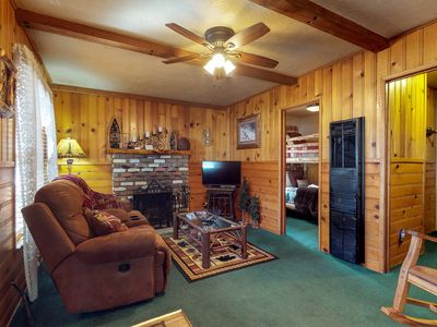 Photo for Cute cottage with a private hot tub, deck, grill - near the lake and ski lifts