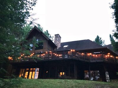 "Photo for Secluded Luxury Cabin Retreat On The ""Ausable National Scenic River"""