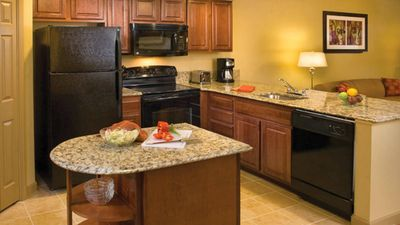 In-suite kitchen so you can cook up tastes of home during your stay