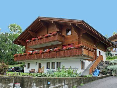 Photo for Comfortable apartment at the ground floor. Terrace with view at the Wetterhorn