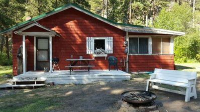 Photo for FAMILY CABIN ON BLUE RIBBON TROUT STREAM 30 MINUTES FROM MISSOULA MONTANA