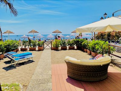 Photo for beautiful suite on the beach of Positano