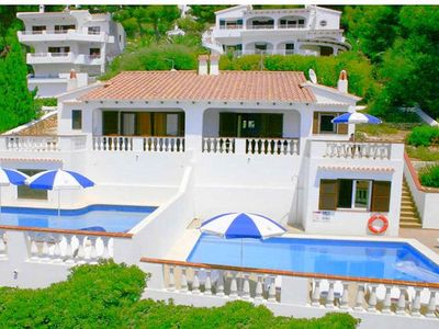 Photo for A homely semi-detached villa with private pool and fabulous sea views , situated just a few metres f
