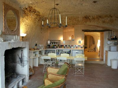 Photo for Troglodyte house in Lavardin 'One of the most beautiful villages in France'
