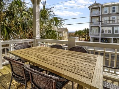 Photo for Ocean View Condo just steps from the beach with a pool!