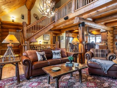 Photo for Sticks & Stones Lodge by SBLCo | Gorgeous Log Townhome | Mtn Luxe | Forest Backdrop