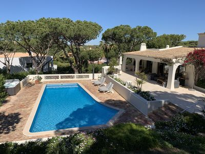 Photo for Villa 8-10pers,Private (heated) Pool, jacuzzi, wifi in+outside, large garden