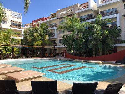 Photo for LUXURY APARTMENT PLAYA DE LCARMEN 2 BEDR / 6 PEOPLE AMAZING POOL CLOSE 5 AVENIDA